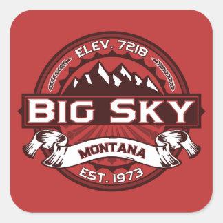 Big Sky Red Square Sticker