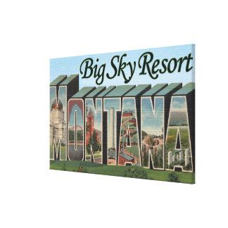 Big Sky Resort, Montana - Large Letter Scenes Canvas Print