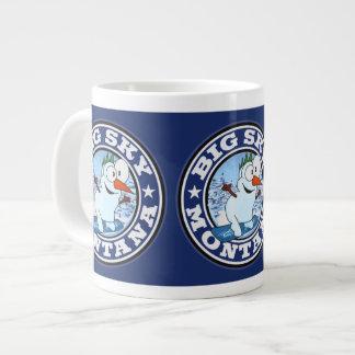 Big Sky Snowman Circle Large Coffee Mug