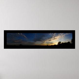 Big Sky Sunset Poster