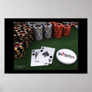Big Slick - Spades w\BigSlick Dealer Button Poster