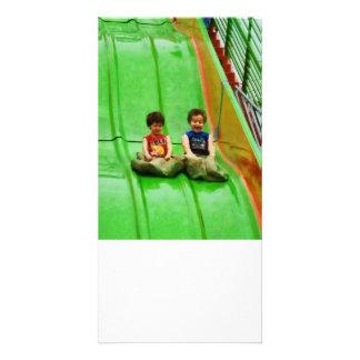Big Slide Personalized Photo Card