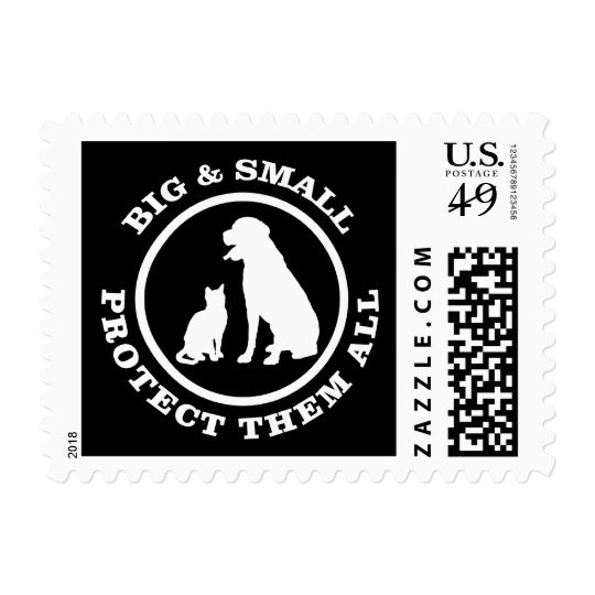 Big & Small Protect Them All Postage Stamp