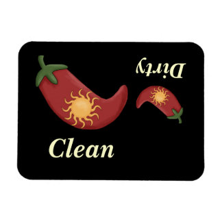 Big & Small Red Peppers & Sun - Dishwasher Magnet
