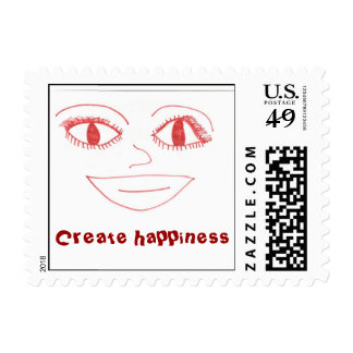 """big_SMILE Create happiness"" Stamps"