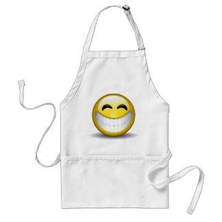 Big Smile Emoticon Adult Apron