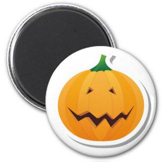 Big smile Halloween Pumpkin 2 Inch Round Magnet