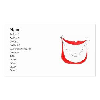 BIG SMILE profile card Business Card