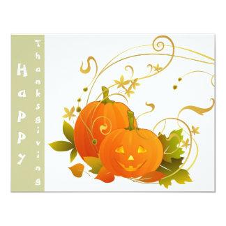 Big Smile Pumpkins! 4.25x5.5 Paper Invitation Card