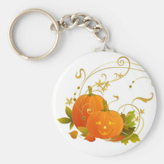 Big Smile Pumpkins! Basic Round Button Keychain