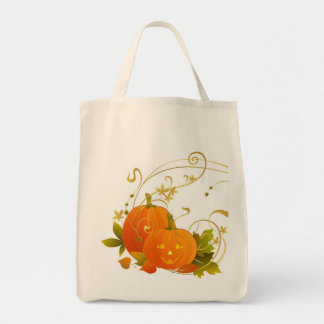 Big Smile Pumpkins! Grocery Tote Bag