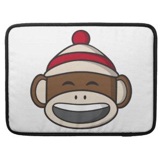Big Smile Sock Monkey Emoji MacBook Pro Sleeve