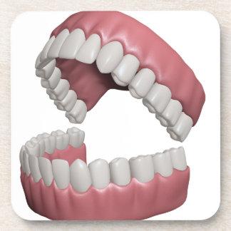 big smile teeth beverage coaster
