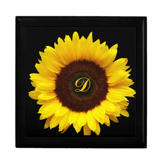 Big Smile/Yellow Sunflower Jewelry Box