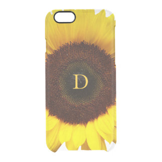 Big Smile/Yellow Sunflower Personalized Clear iPhone 6/6S Case