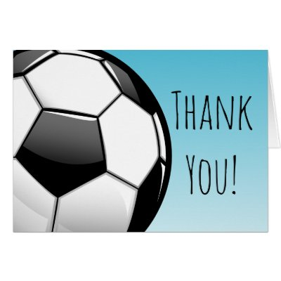 Customizable Soccer Thank You Cards Bulk Or Buy 1 Zazzle Com