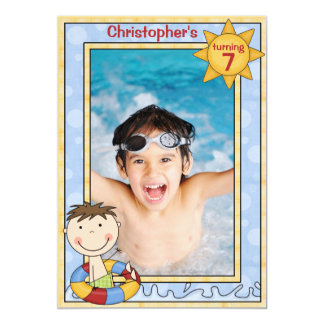 Big Splash - Photo Birthday Party  Invitation