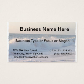 Big splashing waves sunrise Florida beach Business Card