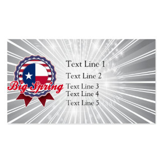 Big Spring, TX Double-Sided Standard Business Cards (Pack Of 100)