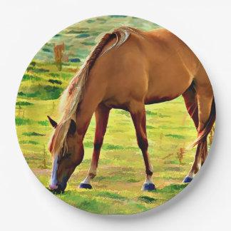 BIG SPRINGS HORSE PAPER PLATE