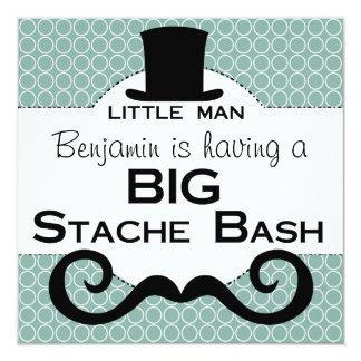 BIG Stache Bash Birthday Invitations