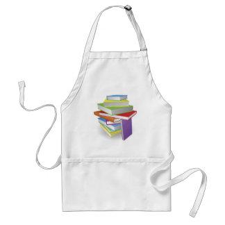Big stack of books illustration apron