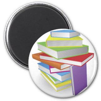 Big stack of books illustration fridge magnet