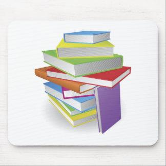 Big stack of books illustration mouse mats