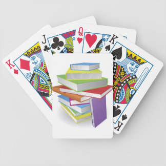 Big stack of books illustration playing cards