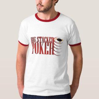 Big Stacked Poker Ringer T T-Shirt