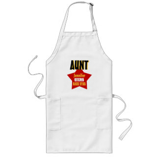 Big Star Custom Name AUNT Kitchen Rock Star V02B Long Apron