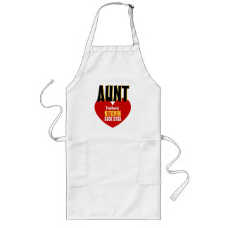 Big Star Custom Name AUNT Kitchen Rock Star V06 Long Apron