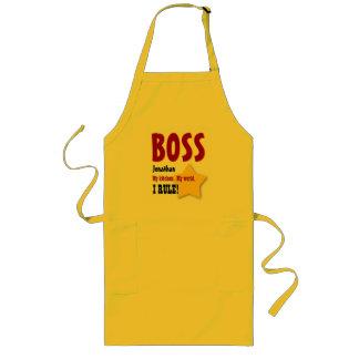 Big Star Custom Name BOSS My Kitchen I Rule V03 Long Apron