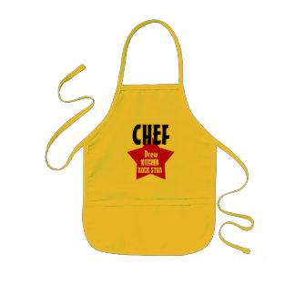 Big Star Custom Name CHEF Kitchen Rock Star V02A1 Kids' Apron