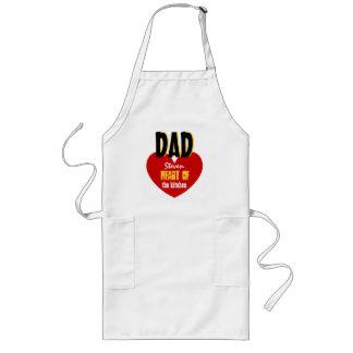 Big Star Custom Name DAD Heart of the Kitchen V06 Long Apron