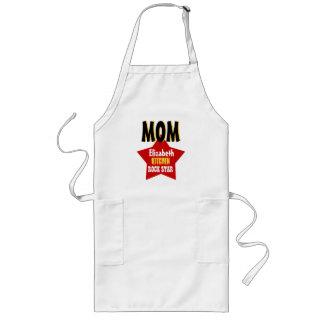 Big Star Custom Name MOM Kitchen Rock Star V03 Long Apron