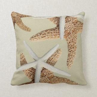 Big Starfish Beige Sea Creatures Throw Pillow
