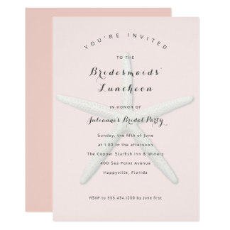Big Starfish Bridesmaids Luncheon Invitation