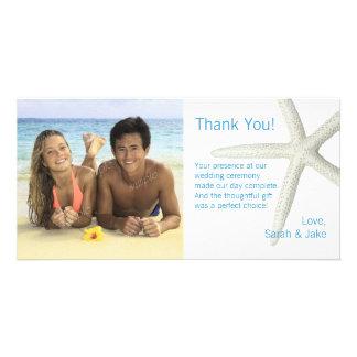 Big Starfish Custom Photo Wedding Thank You Card