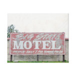Big State Motel Stretched Canvas Prints