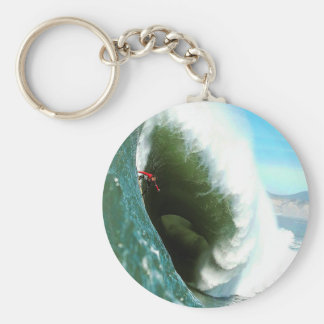 Big Steep Surfing Wave Keychain