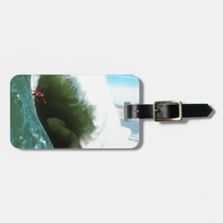 Big Steep Surfing Wave Luggage Tag