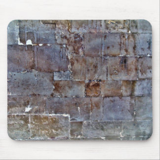 Big Stone Wall With Stains Mousepads
