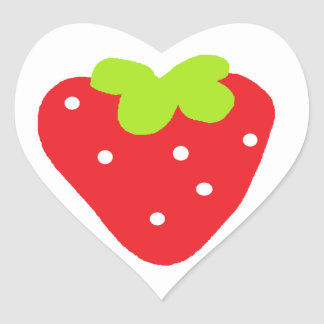 Big Strawberry Heart Sticker