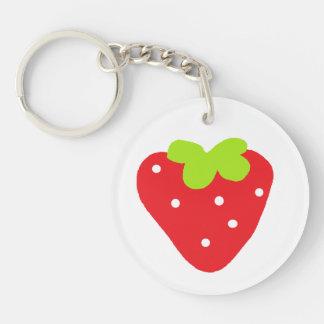 Big Strawberry Keychain