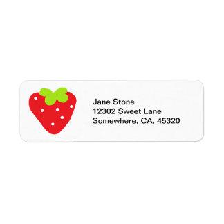 Big Strawberry Label