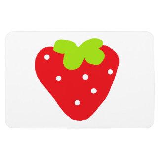 Big Strawberry Rectangular Photo Magnet