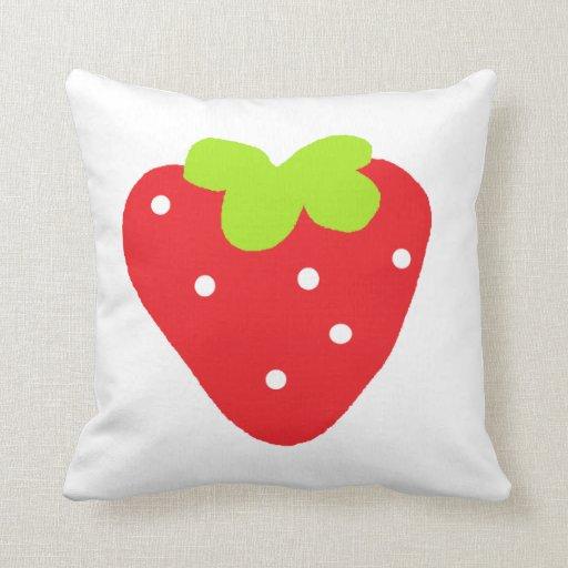 Big Strawberry Throw Pillows