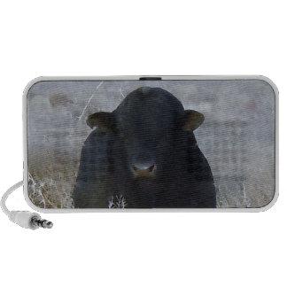Big Strong Black Bull Tumbleweeds - Toro - Taurus Portable Speaker