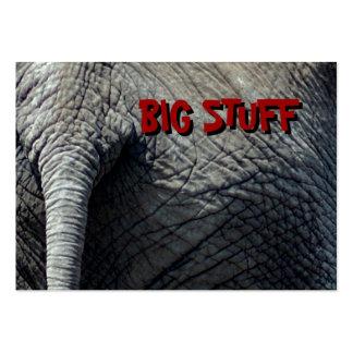 BIG STUFF BUSINESS CARD TEMPLATES